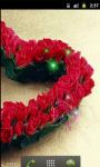 Heart Red Roses Live Wallpaper screenshot 3/5