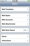 Mailer - Group Mail with Attachments, HTML and Templates screenshot 1/1