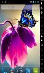 Butterfly On Tulip Live Wallpaper screenshot 1/2