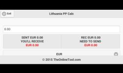 Lithuania PP Calc screenshot 3/4