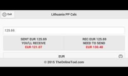 Lithuania PP Calc screenshot 4/4