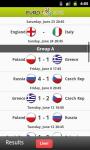Euro 2012 Live Results screenshot 2/3