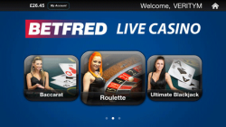 Betfred Live Casino App screenshot 1/4