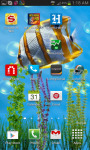 Fish Swim In Deep Blue Sea Live Wallpaper screenshot 2/3