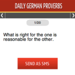 Daily German Proverbs S40 screenshot 1/1