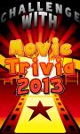Movie Trivia Movie Quiz 2013 Test your Movie IQ screenshot 1/2