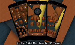 LeatherStitch Next Launcher 3D Theme screenshot 1/3