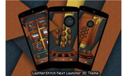 LeatherStitch Next Launcher 3D Theme screenshot 2/3