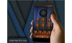 LeatherStitch Next Launcher 3D Theme screenshot 3/3
