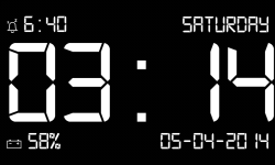 Dock Station Digital Clock screenshot 1/5