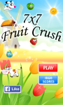 7x7 - fruits crush screenshot 1/5