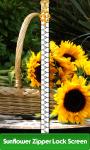 Sunflower Zipper Lock Screen Free screenshot 1/6