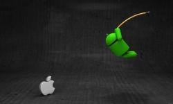 Free Wallpaper Android vs Apple HD screenshot 2/3