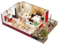 Studio Apartment Floor Plans screenshot 2/6