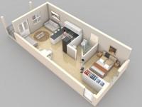 Studio Apartment Floor Plans screenshot 5/6