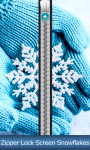 Zipper Lock Screen Snowflakes screenshot 1/6