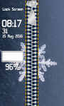 Zipper Lock Screen Snowflakes screenshot 4/6