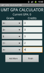 UMT GPA/CGPA CALCULATOR screenshot 4/6