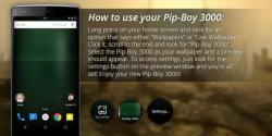 Pip Boy 3000 Live Wallpaper swift screenshot 3/5