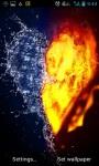 FIRE AND WATER HEART LIVE WALLPAPER screenshot 1/3