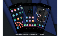 MinimalHD Next Launcher 3D Theme screenshot 1/5