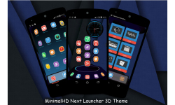 MinimalHD Next Launcher 3D Theme screenshot 2/5