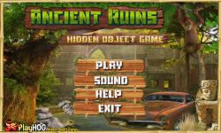 Free Hidden Object Games - Ancient Ruins screenshot 1/4