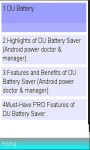 DU Battery Saver  Doctor Manual screenshot 1/1
