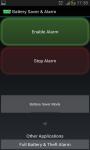 Battery Saver and Alarm screenshot 1/5