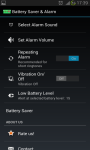 Battery Saver and Alarm screenshot 4/5