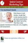 Quick Content Marketing Tips  screenshot 3/3