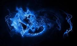 Galaxy S4 Blue Wallpaper screenshot 2/4
