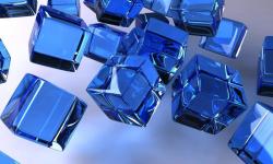 Galaxy S4 Blue Wallpaper screenshot 4/4