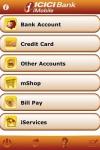 ICICI Bank iMobile screenshot 1/1