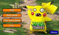 PIKACHU ver Plant and zombie screenshot 1/6