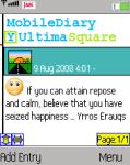 MobileDiary screenshot 1/1