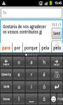 Portuguese CleverTexting IME screenshot 1/4