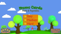 Memo Cards Fruits and Veggies screenshot 1/3