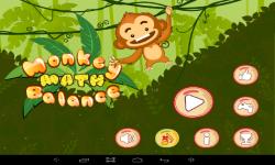 Monkey Math Balance For Kids screenshot 1/5