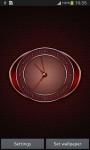 Red Clock Live Wallpaper screenshot 2/6
