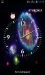 Galaxy Clock Wallpaper screenshot 1/3
