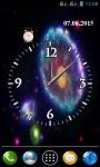 Galaxy Clock Wallpaper screenshot 2/3