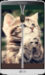 Kitten Zipper Lock Screen HD screenshot 2/4