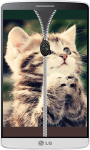 Kitten Zipper Lock Screen HD screenshot 3/4
