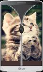 Kitten Zipper Lock Screen HD screenshot 4/4