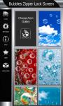 Bubbles Zipper Lock Screen screenshot 4/6