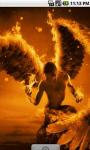 Flame Angel Cool Live Wallpaper screenshot 1/4
