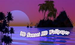 3D Sunset HD Wallpaper screenshot 1/6