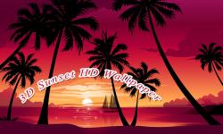 3D Sunset HD Wallpaper screenshot 2/6
