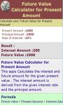 Future Value for Present Amount screenshot 3/3